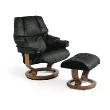 Stressless Reno Medium Classic Base Chair and Ottoman