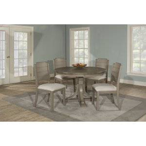 Hillsdale FurnitureClarion 5-piece Round Dining Set With Side Chairs - Distressed Gray