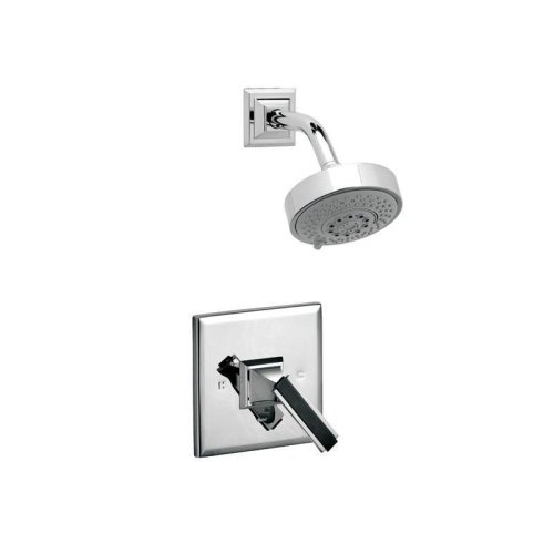 WAVELAND Pressure Balance Shower Set PB3711 - Satin Nickel with Satin Gold