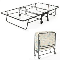 "Rollaway 455/75 Folding Bed and 39"" Fiber Mattress with Tubular Steel Frame and Link Deck Sleeping Surface, 38"" x 75"" Product Image"