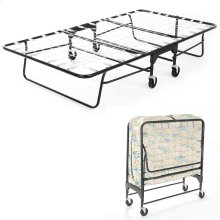 "Rollaway 455/75 Folding Bed and 39"" Fiber Mattress with Tubular Steel Frame and Link Deck Sleeping Surface, 38"" x 75"""