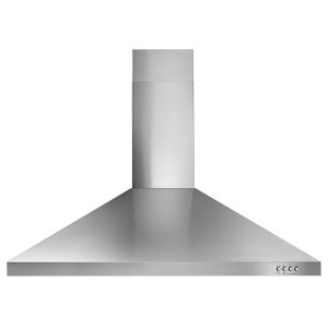 "Whirlpool36"" Contemporary Stainless Steel Wall Mount Range Hood"