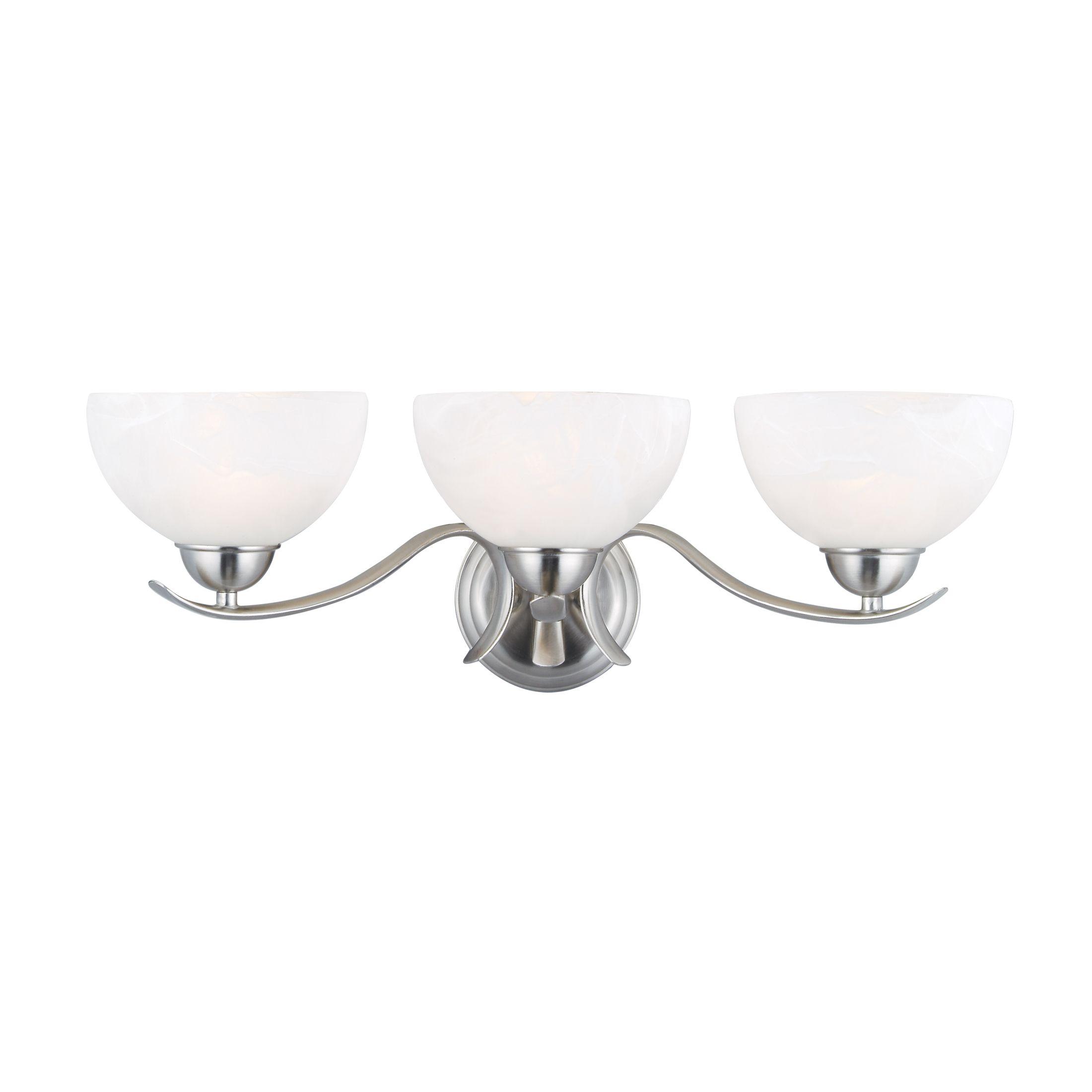 Trevie 3-Light Vanity Light, Satin Nickel #512541