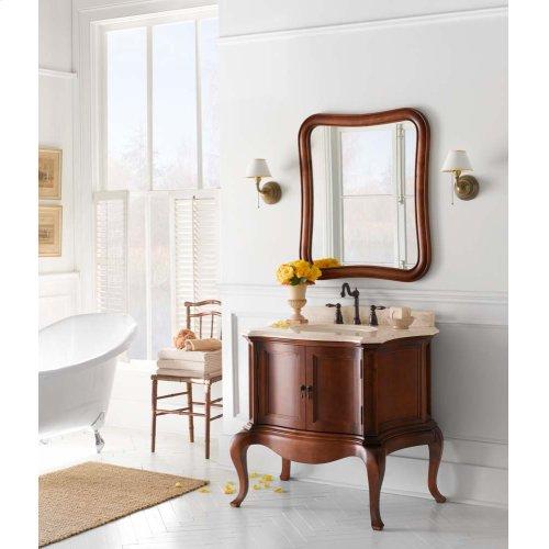 "Chardonnay 36"" Bathroom Vanity Cabinet Base in Colonial Cherry"
