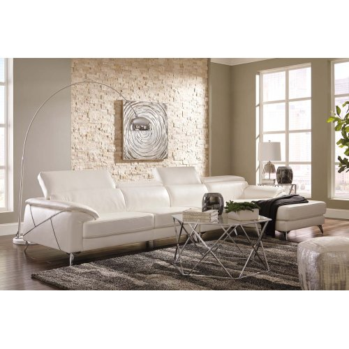 Tindell Sectional White Right