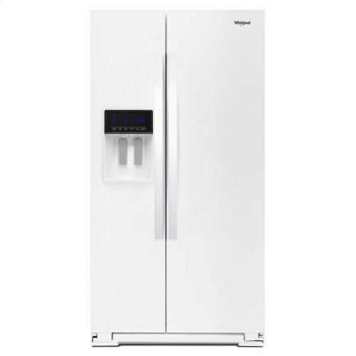 36-inch Wide Side-by-Side Refrigerator - 28 cu. ft. White
