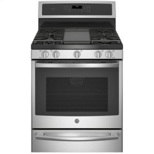 "GE ProfileGE PROFILEGE Profile(TM) 30"" Smart Free-Standing Gas Convection Range with Warming Drawer"