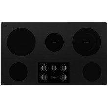 36-inch Electric Ceramic Glass Cooktop with Dual Radiant Element