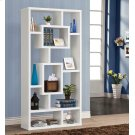 Geometric Cube White Bookcase Product Image