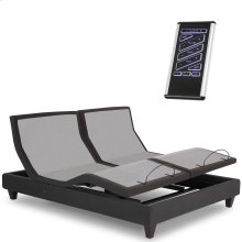 P-232 Furniture Style Adjustable Bed Base with Upholstered Frame and LPConnect, Black Finish, Split King