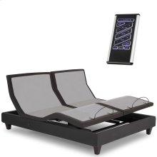 P-232 Furniture Style Adjustable Bed Base with Upholstered Frame and LPConnect, Black Finish, Split King