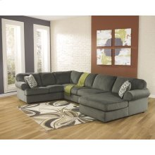 Signature Design by Ashley Jessa Place 3-Piece Left Side Facing Sofa Sectional in Pewter Fabric