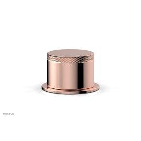 BASIC II Volume Control/Diverter Trim Knurled Handle 230-35 - Polished Copper