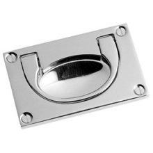 "Polished Nickel Flush handle, 3 1/8"" x 1 7/8"""