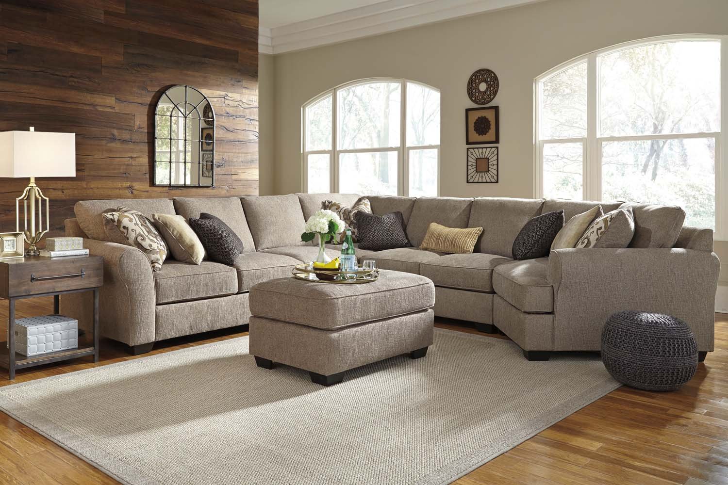 Pantomine   Driftwood 5 Piece Sectional