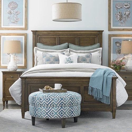 King/Tobacco Commonwealth Panel Bed