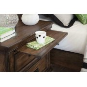 Franco Two-drawer Nightstand With Tray Product Image