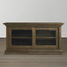 Emporium Smoked Oak Compass Sliding Door Credenza