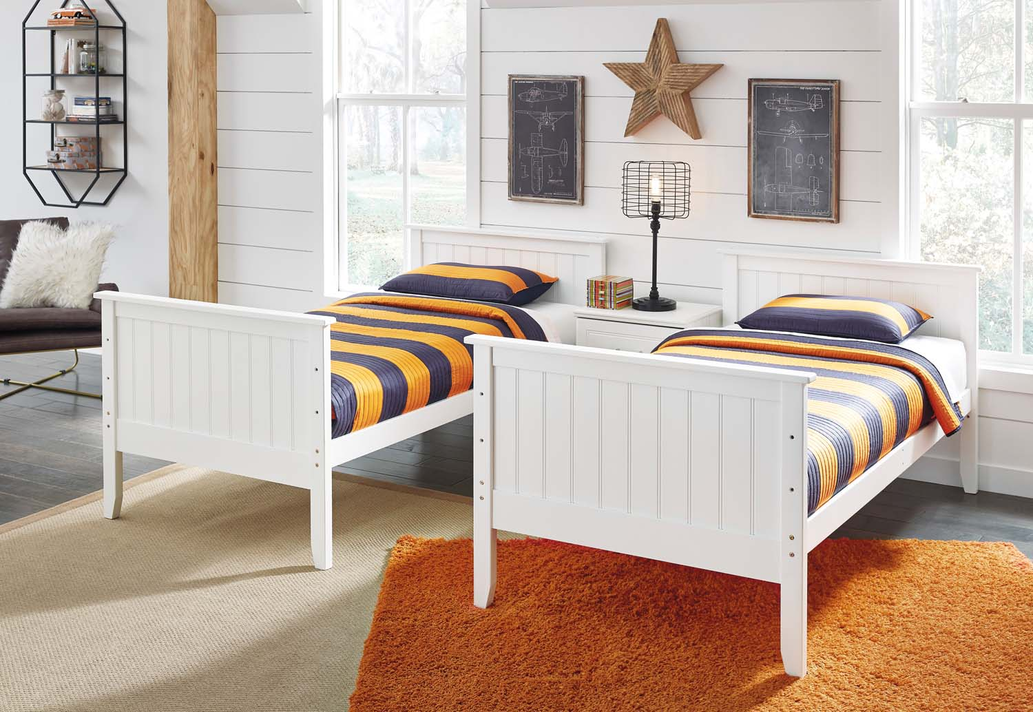 Lulu   White 3 Piece Bed Set (Twin)
