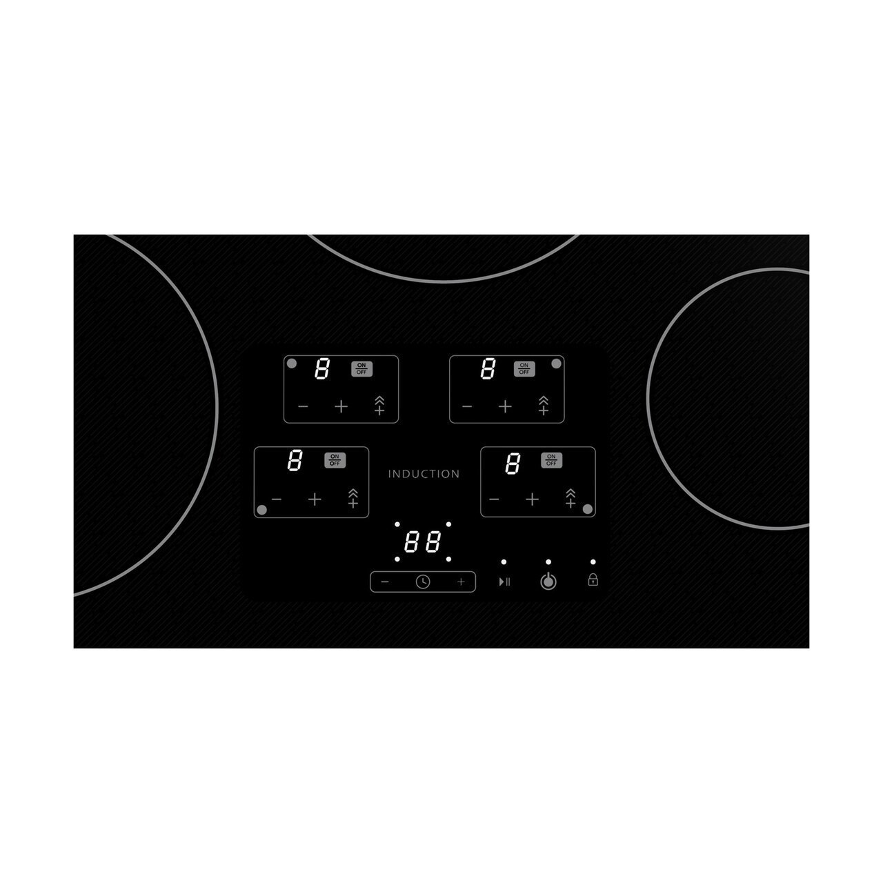 30 in. Width Induction Cooktop, European Black Mirror Finish Made with Premium SCHOTT® Glass Photo #4