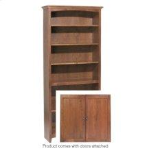 """GAC 72""""H x 30""""W McKenzie Alder Bookcase w/doors"""