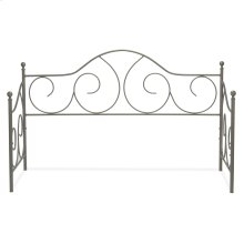 Caroline Metal Daybed Frame with Gently Sloping Back and Side Panels, Flint Finish, Twin