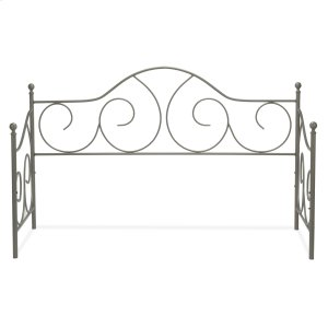 Fashion Bed GroupCaroline Metal Daybed Frame with Gently Sloping Back and Side Panels, Flint Finish, Twin