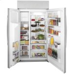 """GE GE Profile™ Series 42"""" Smart Built-In Side-by-Side Refrigerator with Dispenser"""