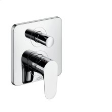Chrome Single lever bath mixer for concealed installation with integrated security combination according to EN1717