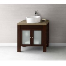 "Devon 31"" Bathroom Vanity Base Cabinet in Vintage Walnut"
