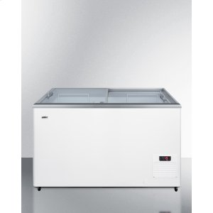 SummitFlat Top Commercial Ice Cream Freezer With Sliding Glass Lid, Digital Thermostat, Novelty Baskets, and 11.7 CU.FT. Capacity