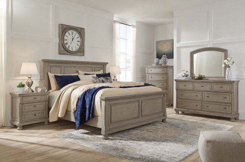 Lettner - Light Gray 2 Piece Bedroom Set