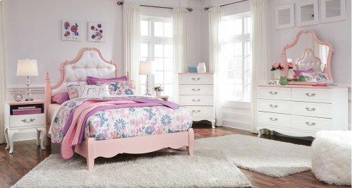 Laddi - White/Pink 2 Piece Bedroom Set