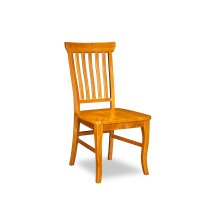Venetian Dining Chairs Set of 2 with Wood Seat in Caramel Latte
