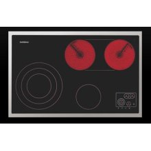 """30"""" Glass Ceramic Cooktop with Touch Control Panel in the Cooking Zone Arrangement"""