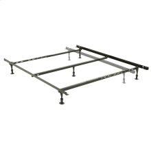Harvard Adjustable NH50GC4 Heavy Duty Bed Frame with Keyhole Cross Arms and (5) 2-Piece Glide Legs, Twin - Queen