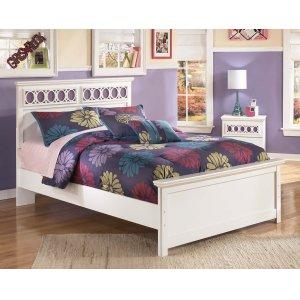 Ashley Furniture Zayley - White 3 Piece Bed Set (Full)