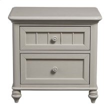 Oyster Grey Nantucket Nightstand