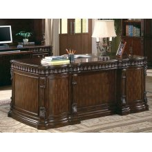 Tucker Traditional Rich Brown Executive Desk
