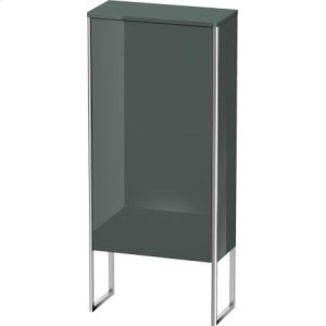 Semi-tall Cabinet Floorstanding, Dolomiti Gray High Gloss Lacquer