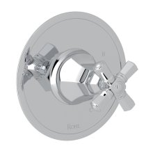 Polished Chrome Palladian Pressure Balance Trim Without Diverter with Cross Handle