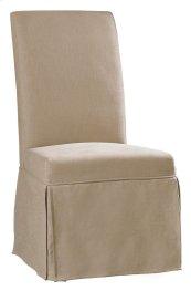 Dining Room Clarice Skirted Chair-Hemp