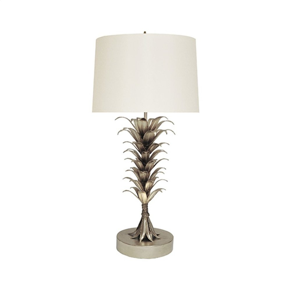 Palm Leaf Table Lamp In Silver Leaf