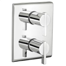 Times Square 2- Handle Thermostat Trim Kit - Polished Chrome