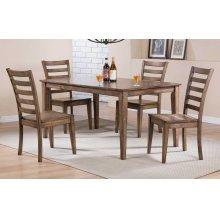"60"" Leg Table w/ 4 Chairs"