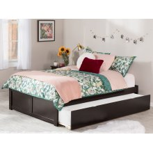Concord Full Flat Panel Foot Board with Urban Trundle Espresso