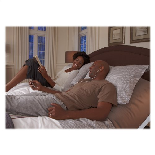 Vibrance Adjustable Bed Base with Head and Foot Articulation, White Finish, Split King
