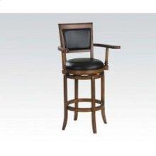 Oak Bar Chair W/swivel