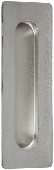 Rectangular Pocket/Cup Pull w/Oblong Opening, US32