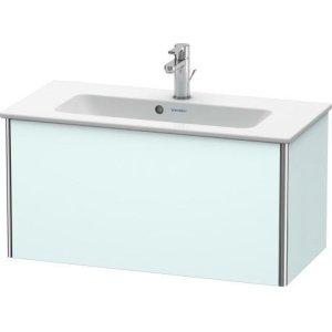 Vanity Unit Wall-mounted Compact, Light Blue Matt Decor